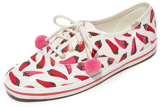 Kate Spade New York x Keds Kick Chili Pepper Sneakers $78 thestylecure.com