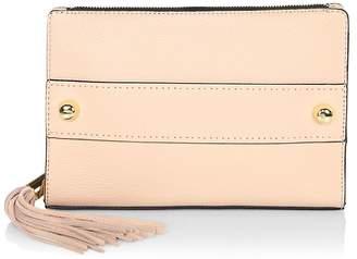 Milly Women's Astor Tassel Pebble Leather Clutch