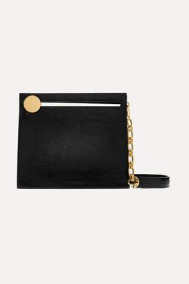 Bienen-Davis - Max Crinkled-leather Shoulder Bag - Black