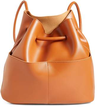 BP Faux Leather Drawstring Backpack