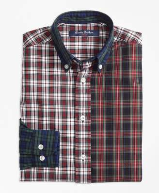 Brooks Brothers Boys Oxford Plaid Fun Shirt