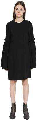 MM6 MAISON MARGIELA Fluid Polyester Dress W/ Bell Sleeves