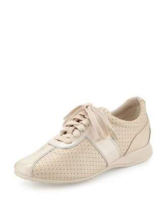 Cole Haan Bria Grand Perforated Leather Sneaker, Sandshell $150 thestylecure.com