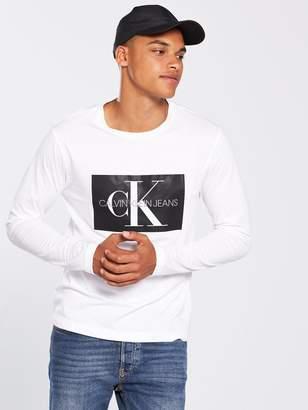 Calvin Klein Jeans Ck Jeans Monogram Box Logo Long Sleeve T-shirt