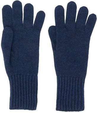 Pringle ribbed cuff gloves