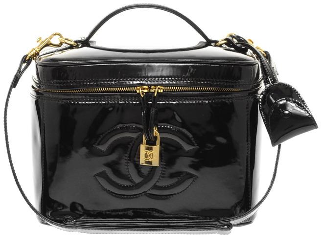 Vintage Heirloom Chanel Patent Leather Vanity Case