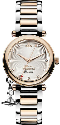 Vivienne Westwood VV006SLRS Time Machine stainless steel and diamond watch