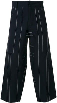 Cédric Charlier striped cropped trousers