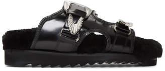 Toga Pulla Black Buckle Sandals