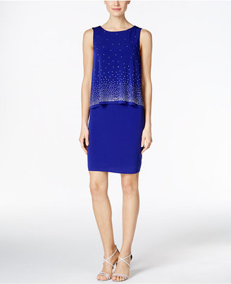 Jessica Howard Embellished Popover Sheath Dress $109 thestylecure.com