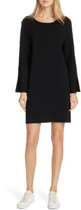 Milly Button Sleeve Shift Dress