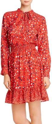 Sam Edelman Printed Tie-Neck Dress