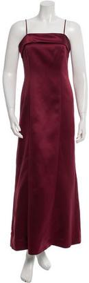 Vera Wang Satin Evening Dress $140 thestylecure.com
