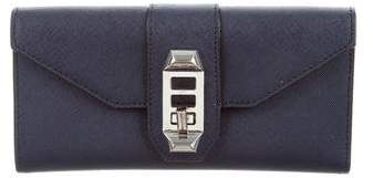 Rebecca Minkoff Leather Mason Wallet - BLUE - STYLE