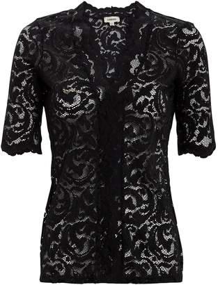 653e8a9da168c L Agence Consuelo Black Lace Top