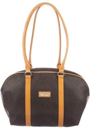 Ted Lapidus Embossed Leather Bag