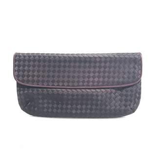 Bottega Veneta Purple Silk Clutch Bag