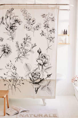 Makenna Etched Floral Shower Curtain