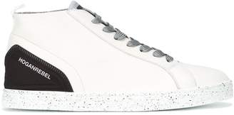 Hogan speckled sole lace-up sneakers