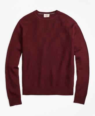 Merino Wool Diagonal Texture Raglan Crewneck Sweater $98.50 thestylecure.com