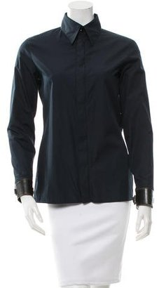 Jean Paul Gaultier Long Sleeve Zip-Up Top $115 thestylecure.com