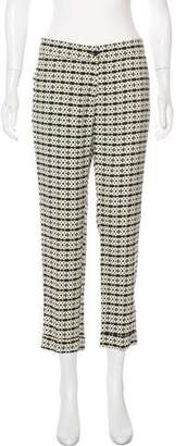 Etro Abstract Print Mid-Rise Cropped Pants
