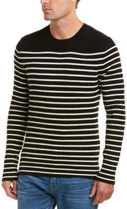 Vince Bretton Stripe Wool & Cashmere-Blend Crew Sweater