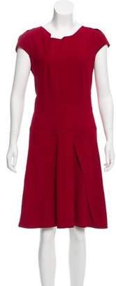Roland Mouret Pleated Midi Dress