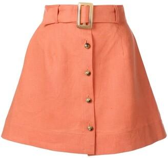 Lisa Marie Fernandez belted a-line mini skirt