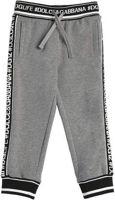 Dolce & Gabbana Logo Bands & Queen Cotton Sweatpants