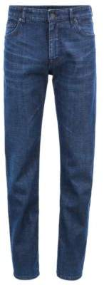 BOSS Hugo Relaxed-fit jeans in Italian stretch left-hand denim 30/32 Dark Blue