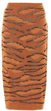 Stella McCartney Tiger Camouflage knitted skirt