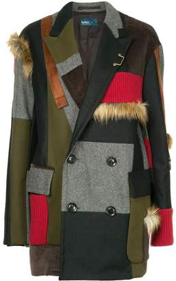 Kolor contrasting panels coat