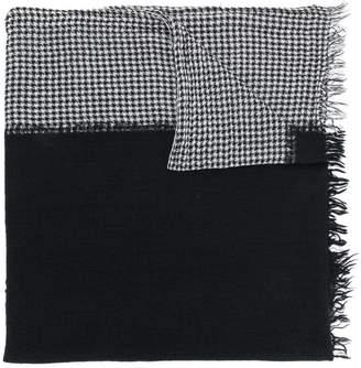 Yohji Yamamoto houndstooth print scarf