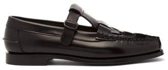 Hereu - Soller M Woven Front Leather Loafers - Mens - Black
