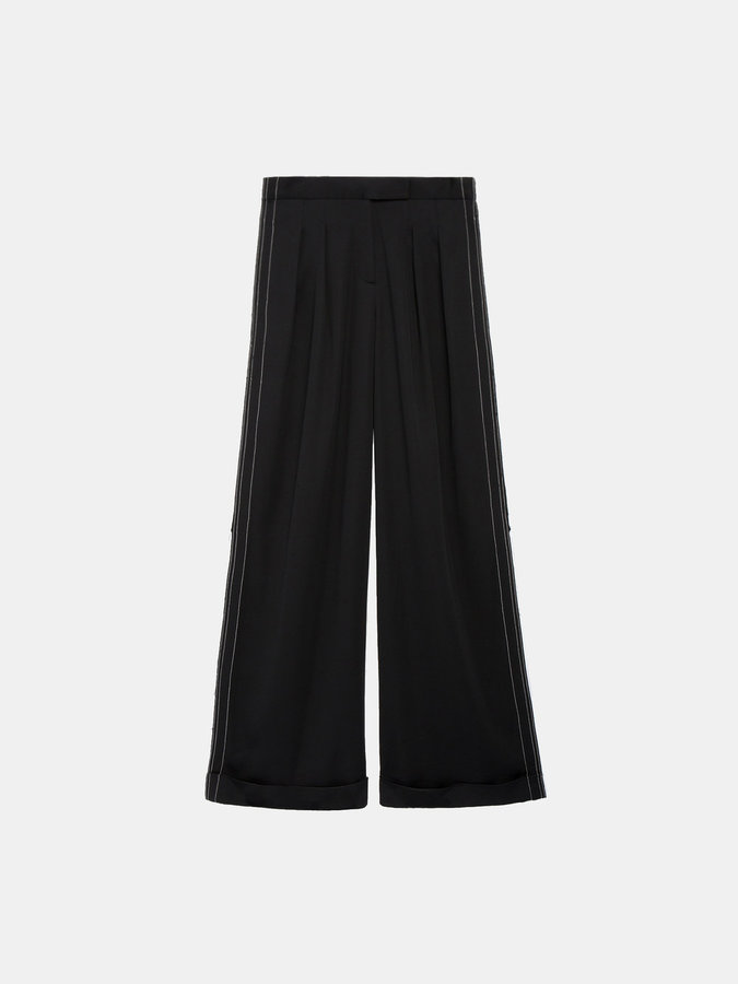 DKNYWide Leg Pant With Cuff And Back Print