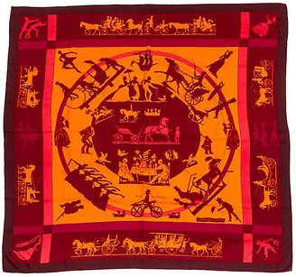 One Kings Lane Vintage HermAs Cashmere Silk Jeux d'Ombre Shawl - Vintage Lux