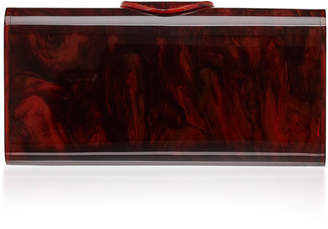 Edie Parker Lara Tortise Acrylic Clutch