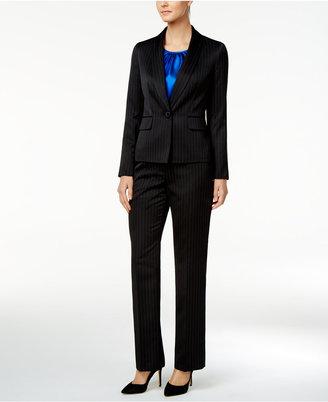 Le Suit 3-Pc. Pinstripe Pantsuit $240 thestylecure.com