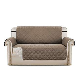 H.VERSAILTEX Loveseat Cover Loveseat Slipcover Reversible Furniture Protector with Elastic Straps