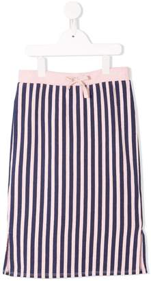 Bobo Choses drawstring striped straight skirt