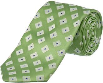 Ike Behar Green Summer Squares Silk Tie