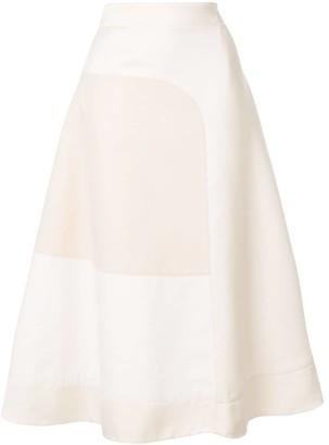 Jil Sander colour block skirt