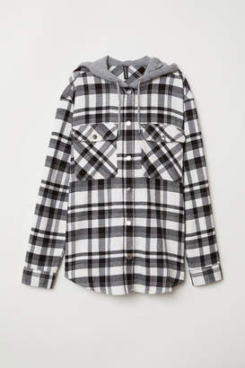 H&M Hooded Shirt - White
