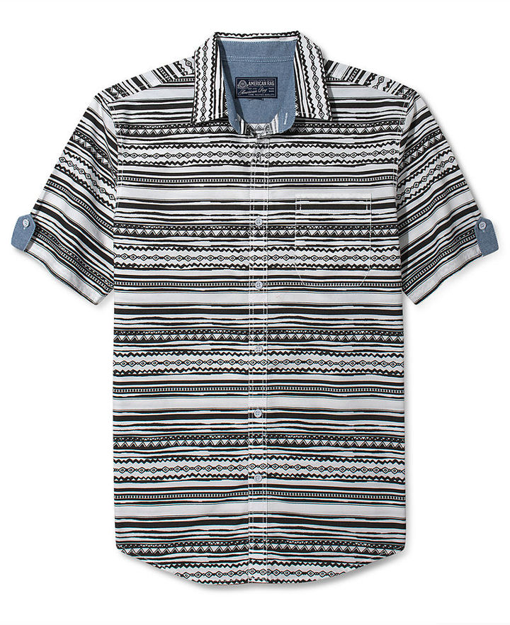 American Rag Shirt, Southwest Short Sleeve Shirt