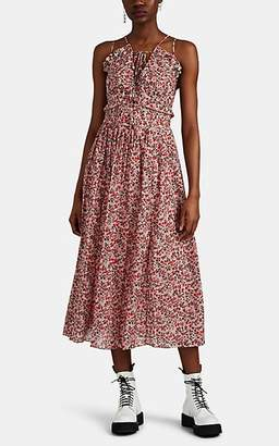 Robert Rodriguez Women's Cayana Floral Pleated Midi-Dress - Pink