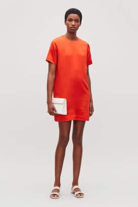 Cos SHORT SILK-BLEND DRESS
