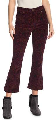 Free People Flare Cropped Corduroy Pants