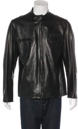 Barneys New York Barney's New York Leather Zip Jacket