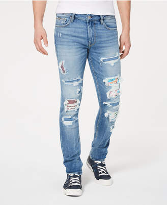21058cbb0 GUESS Men Skinny-Fit Stretch Patched Destroyed Jeans